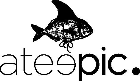 logo ateepic poisson en noir