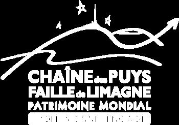 logo blanc professionnel engagé chaîne des puys