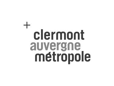 logo Clermont Auvergne Métropole gris